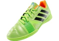 adidas Youth Nitrocharge 3.0 Indoor Soccer Shoes - Solar Slime & Black...Available at SoccerPro!
