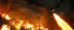 Drogon laying waste to King's Landing 304 AL Game Of Thrones Dragons, Got Dragons, Mother Of Dragons, Smaug Dragon, Dragon Art, Fantasy Creatures, Mythical Creatures, Legolas And Thranduil, Black Dragon
