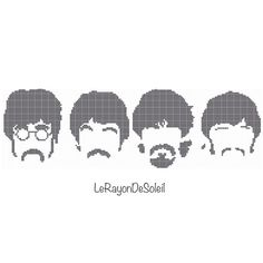The Beatles cross stitch pattern 4 SMALL The von LeRayonDeSoleil