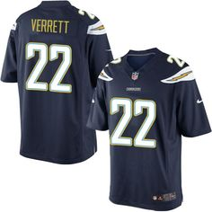 Nike Limited Jason Verrett Navy Blue Youth Jersey - Los Angeles Chargers #22 NFL Home