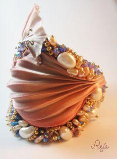shibori silk bracelet  www.rejesoutache.com https://www.facebook.com/rejegioielliinsoutache https://www.etsy.com/shop/Rejesoutache?ref=hdr