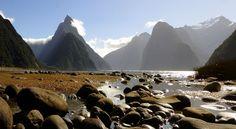 Milford Sound NZ. (16944937040) - Fiordland National Park - Wikipedia Alpine Adventure, Marine Reserves, Visit New Zealand, New Zealand South Island, Milford Sound, If Rudyard Kipling, Top Travel Destinations, World Heritage Sites, Wonders Of The World