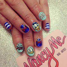 Donald nails for our babe @emzlolz  at @diy_nails  #nancymcnails #nailart…