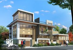 Visualization is expert in architectural rendering, walkthrough, architecural visualization, animation, interior design and realistic rendering 3d Architectural Rendering, 3d Architectural Visualization, Building Elevation, House Elevation, House Front Design, Modern House Design, Architecture Design, Tiny House Nation, Building Design