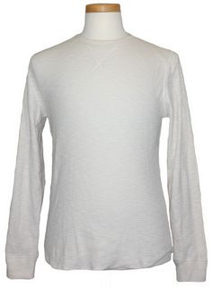 lucky brand long sleeve cotton blues solid thermal shirt lucky brand mens shirt thermal raglan waffle knit crewneck ivory sz m new 59 50 luckybrand