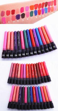 $1.99 1 Pc Matte Lipstick Smudge-free Long Lasting Lip Gloss Lip Makeup-14 Colors - BornPrettyStore.com