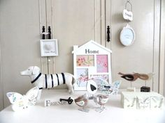 Shabby Chic Home Accessories Decor Ornaments Photo frame Butterfly Dog Bird