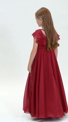 Red Dresses For Kids, Princess Flower Girl Dresses, Stylish Dresses For Girls, Frocks For Girls, Sweet 16 Dresses, Wedding Dresses For Girls, Little Girl Dresses, Girls Dresses, Baby Girl Dress Design