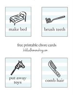 Trying to get organized for the new year? Here are some free printable chore cards!