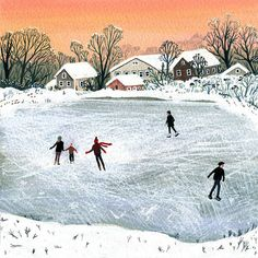 Etsy の ice skating by beccastadtlander