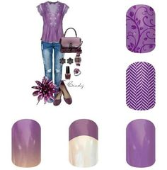 Pretty purples.  Take a look or place an order: https://wrappinwallin.jamberry.com/category/holiday