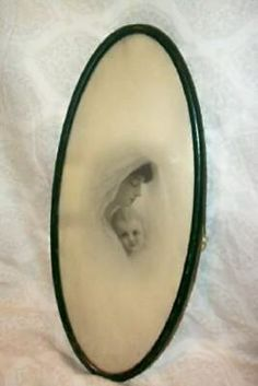 1920s TIN FRAME MOTHER BABY PRINT BLACK AND WHITE CHIPPY GREEN FRAME ANTIQUE | eBay Blue Shutters, Winter Cabin, Wood Vanity, Oval Frame, Gold Wood, Wood Picture Frames, Metal Tins, Mother And Baby, How To Antique Wood