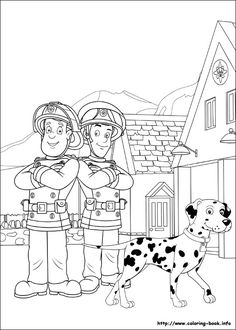Firefighter Coloring Pages for Preschoolers Coloring Free Printable Color Book Pages Santa Fireman Sam Hulk Coloring Pages, Cat Coloring Page, Printable Coloring Pages, Coloring For Kids, Coloring Pages For Kids, Coloring Books, Fireman Birthday, Fireman Sam, Xmas