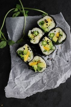 Raw Summer Sushi Roll with Cauliflower Rice | Community Post: 15 Innovative Veggie Sushi Recipes You Must Try This Spring
