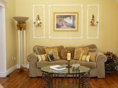 Living Room with Gold Accents