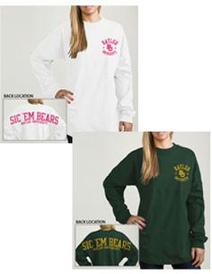 Product: Baylor University Bears Women's Ra Ra Football Long Sleeve T-Shirt
