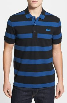 579c06168a1 Lacoste Wide Stripe Piqué Polo available at #Nordstrom Wide Stripes, Bold  Stripes, Men's