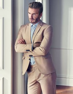 David Beckham shows off his sharp sense of style as he models the clothes he thinks YOUR man should be wearing  | Daily Mail Online