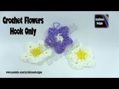 Rainbow Loom Loom-less Crochet Flower - Hook Only. New to Loomigurumi and wanting to know where to learn the basics click the link here . Learn how to search a channels videos by using the playlists - . Loom Craft, Rubber Band Bracelet, Loom Bands, Rainbow Loom, Crochet Flowers, Cool Things To Make, Crochet Hooks, Crochet Earrings, Diy Crafts