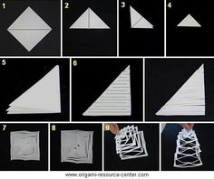 decoração de papel kirigami