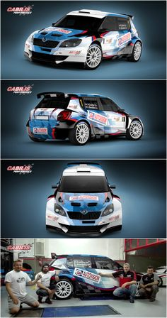 Design and wrap of Škoda Fabia S2000 for Greek Cabilis Performance racing team. The wrapping took place in the team´s garage in Athens.