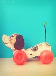 Vintage Digger Dog pull toy =)