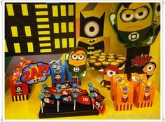 Minions superhero Birthday Party Ideas | Photo 9 of 24 | Catch My Party