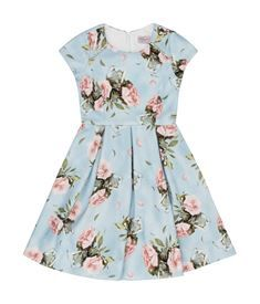 View the Floral Print Pleated Dress