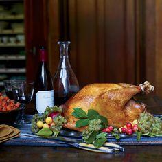 Herb-Roasted Turkey with Wild Mushroom Gravy Recipe - David Tanis | Food & Wine