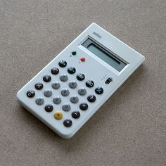 gorgeous limited edition white version of the braun et55 calculator, designed by dieter rams and dietrich lubs in 1980. apparently only 5000 of these beauties were ever made.