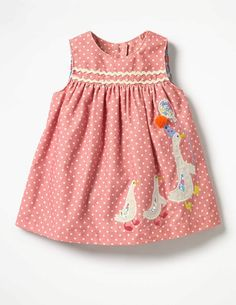 cute kids pink spotty dress Woven Appliqué Dress #affiliate (I will receive a small commission if you click this link)