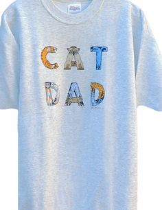 CAT DAD T-SHIRT ASH - Meow.com Unique Gifts for Cat Lovers