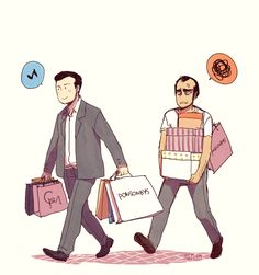Michael Desanta and Trevor Philips shopping together in Los Santos, Gta V Trevor Philips, Gta 5, South Park, Christmas Games Online, Otp, Grand Theft Auto Series, Michael X, See Games, Fanart