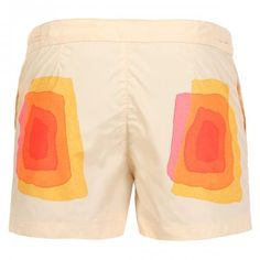 MULTICOLOR PRINT SHORT BOARDSHORTS - Oxford Court lightweight technical fabric Boardshorts featuring a multicolor print on front and back, two front pockets, one with zip, fixed waist with hidden adjustable drawstring, adjustable straps at the waist with snaps, internal mesh, Robinson Les Bains rubber label sewn inside, snap button fly.  #robinsonlesbains #sales #summer #mrbeachwear #beach #sale #fashion #mens