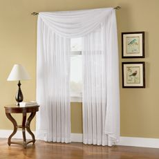 Caprice Sheer Rod Pocket Window Curtain Panels - Bed Bath & Beyond