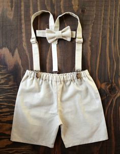 Ring Bearer Boys outfit Suspenders Set Baby boy by fourtinycousins