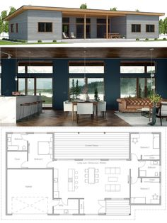Ideas Container House Layout Floor Plans Tiny Homes for Small House, New Home, House Plans Casas Containers, Tiny House Plans, Small Modern House Plans, Simple Floor Plans, Modern House Floor Plans, Simple Home Plans, Home Floor Plans, Cottage Floor Plans, Bungalow Homes Plans