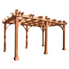Breeze Cedar 12 ft. x 20 ft. Pergola, Browns/Tans