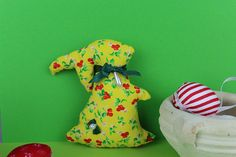 Easter Bunny, Dinosaur Stuffed Animal, My Etsy Shop, Yellow, Decoration, Unique Jewelry, Handmade Gifts, Check, Decor