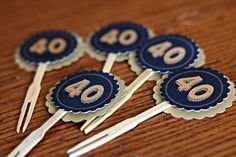Tips and Trick on Birthday Party Ideas 60th Birthday Decorations, Birthday Party Decorations For Adults, Adult Birthday Party, 40th Birthday Parties, Happy Birthday Banners, Birthday Cheers, Cupcake Decorations, Cupcake Wraps, Cupcake Picks