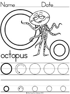 octopus coloring pages and activities - photo#43