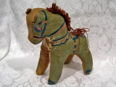 1920s-30s Oilcloth Toy Horse with Kapok Stuffing. Previously sold from Antique Graces