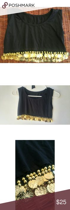 Boho Coin Crop Gorgous NWOT Gypsy coin crop top. I absolutely love the way this jingles! Tops Crop Tops