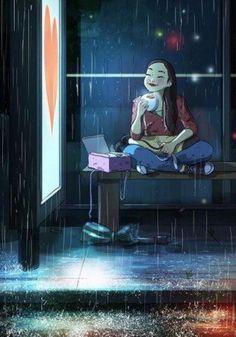 Auch ganz alleine erleben wir oft schöne Momente. Diese Künstlerin hält das in magischen Illustrationen fest.