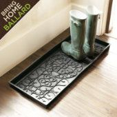If selling or dwelling, a boot tray is great to have at the entry or in a coat closet.