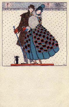 819. Fritzi Löw - Wiener Werkstatte postcard