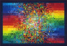 Phase shift, oeuvre de l'artiste américaine Diana Todd créée à l'aide de carrés de tissu.
