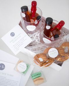 The Cutest New York Inspired Wedding Welcome Gift Featuring A Make Your Own Manhattan