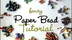 """{MASSIVE} Fancy Paper Beads Tutorial. Also go to this """"board"""" for more pins on paper beads."""