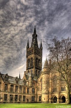 The East Quadrangle of Glasgow University.
